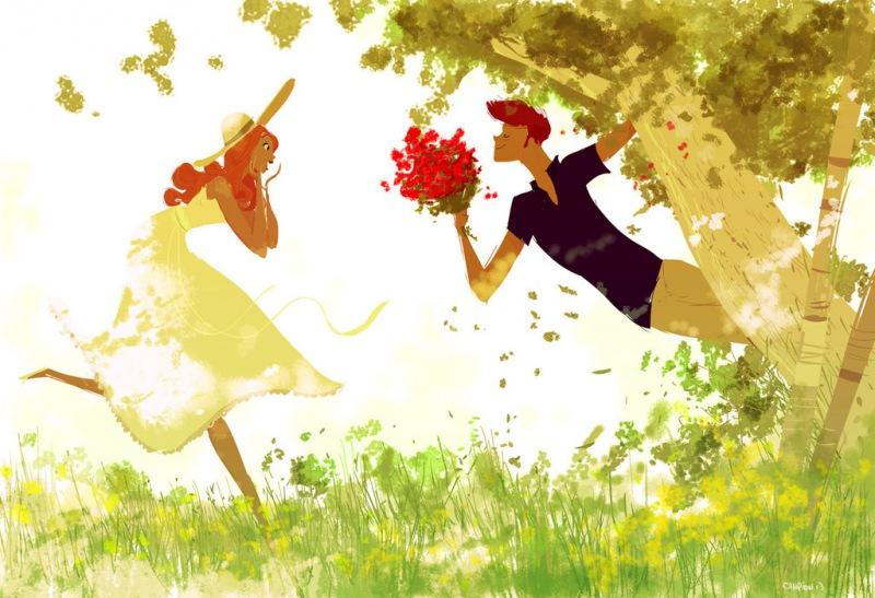 Рисунки о счастье и любви