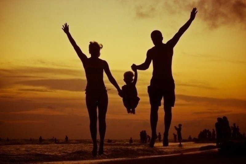 папа сын и мама