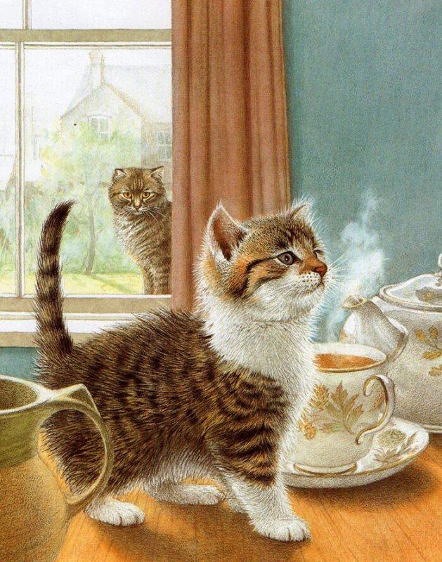 Картинки пятница, доброе утро картинки прикольные с кошкой